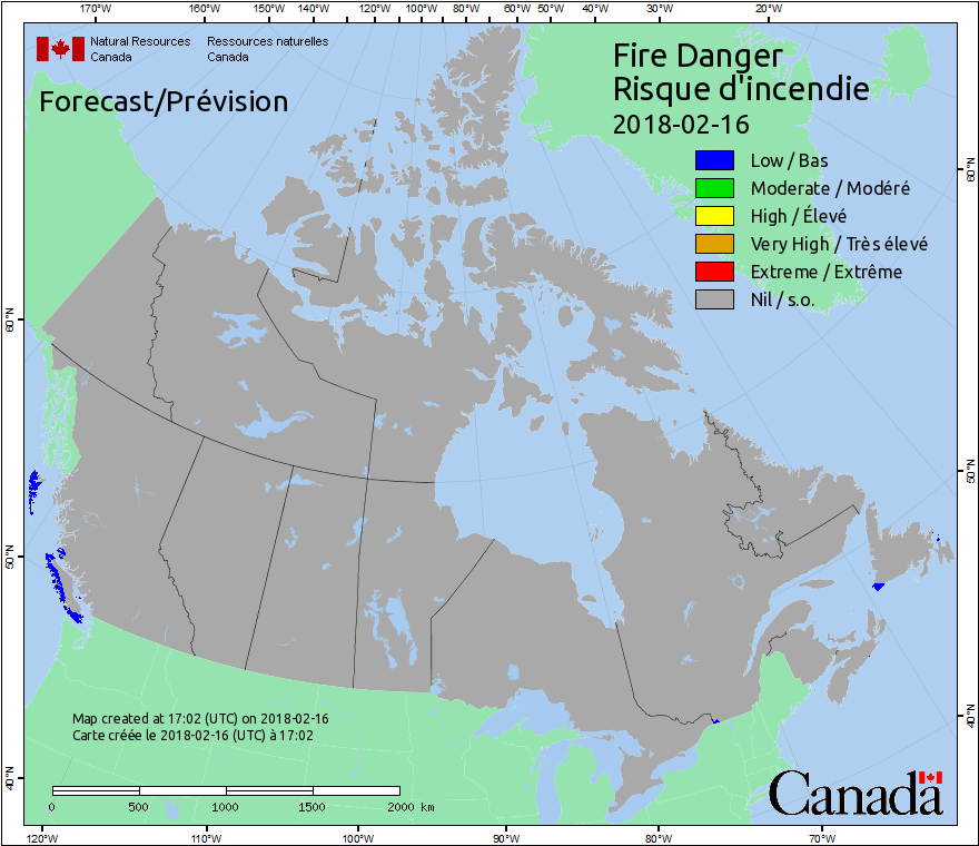 Canadian Wildland Fire Information System