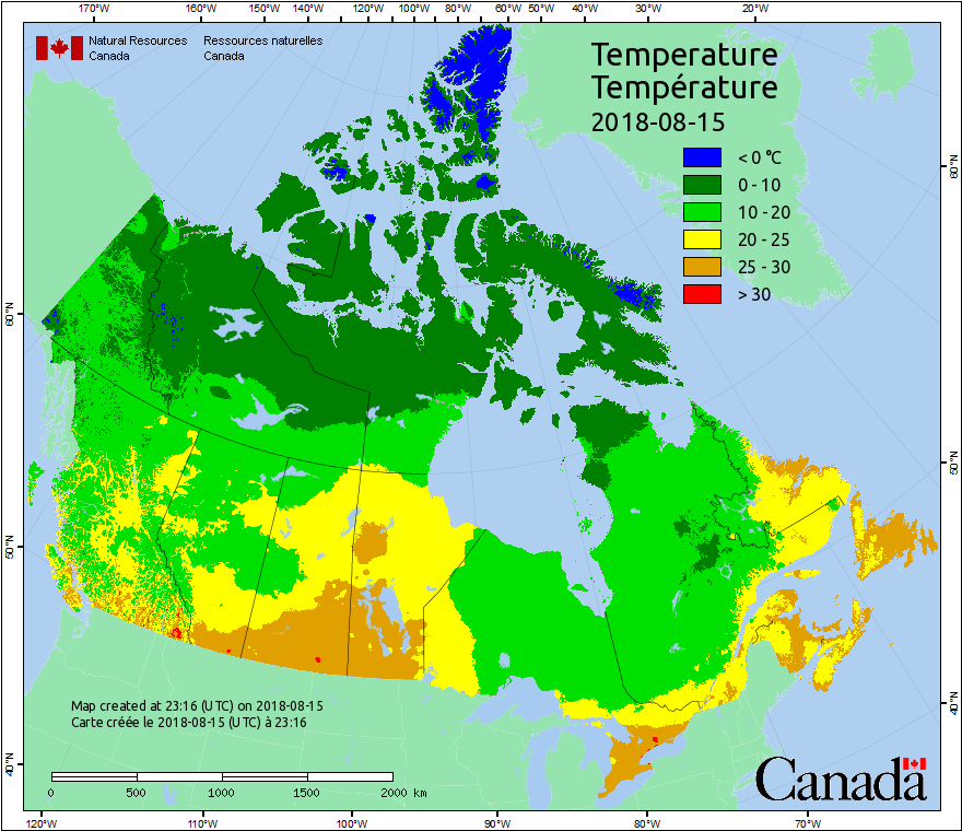 Weather Maps | Canadian Wildland Fire Information System | Natural on