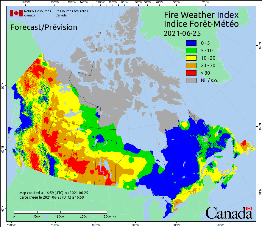 Canada Fire Weather Index Forecast