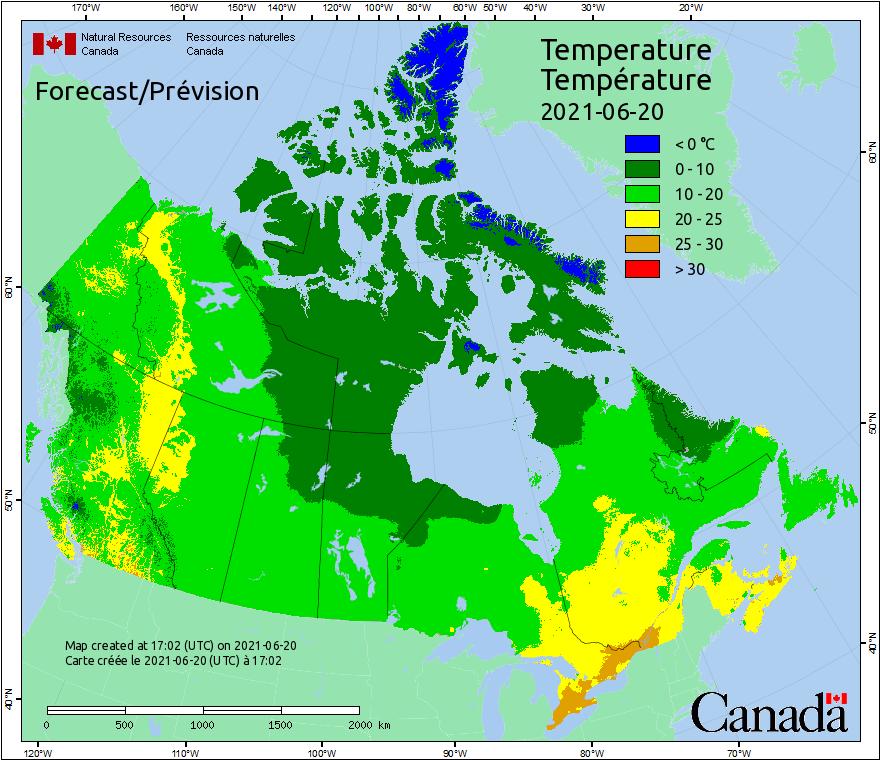 Canada Fire Temperatures