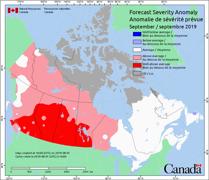 Canadian Wildland Fire Information System | Monthly and